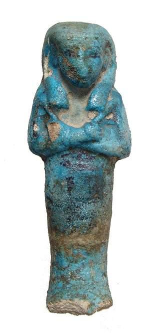 Egyptian bicolor 3rd Intermediate Period ushabti