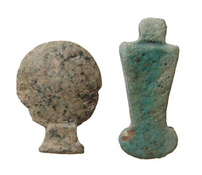 A nice pair of Egyptian amulets, Late Period