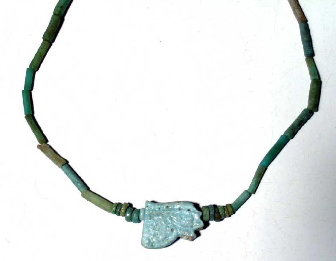 A lovely Egyptian faience bead necklace