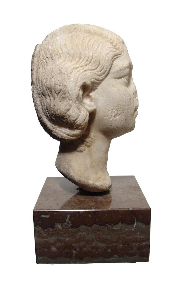 Pair of Roman Imperial portrait heads, Severan Dynasty - 10
