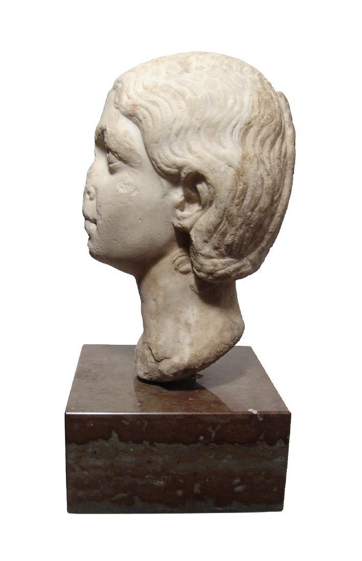 Pair of Roman Imperial portrait heads, Severan Dynasty - 12