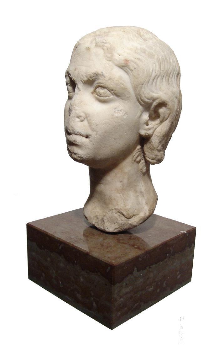 Pair of Roman Imperial portrait heads, Severan Dynasty - 13