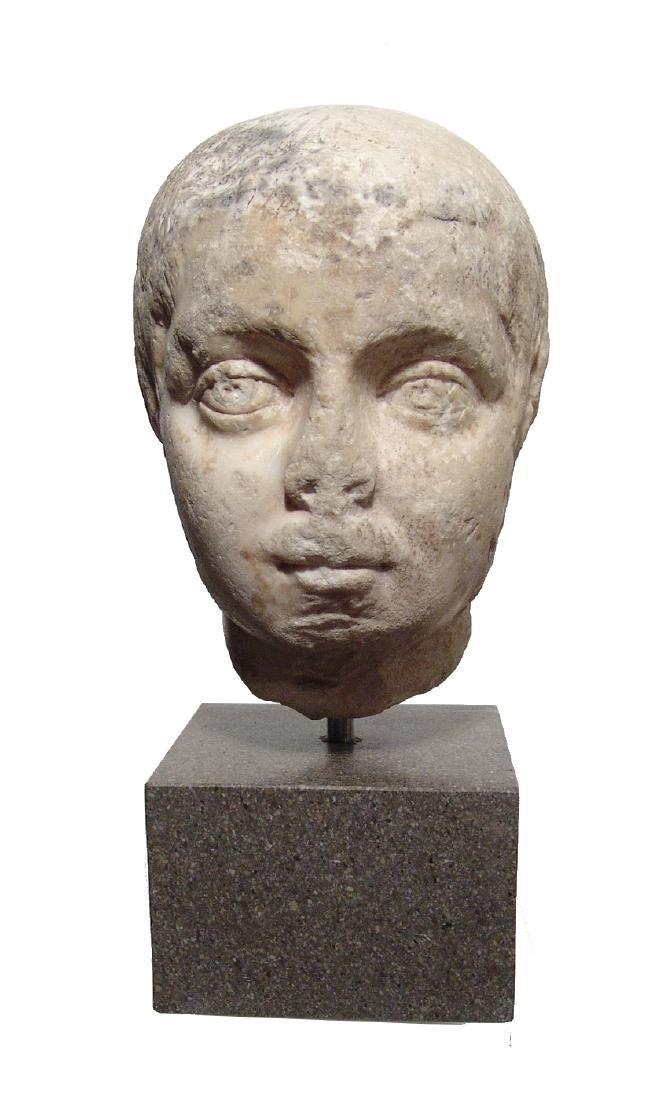 Pair of Roman Imperial portrait heads, Severan Dynasty - 2