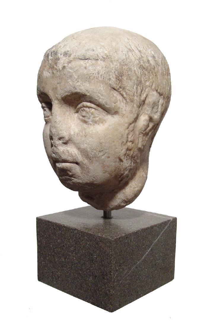 Pair of Roman Imperial portrait heads, Severan Dynasty - 3