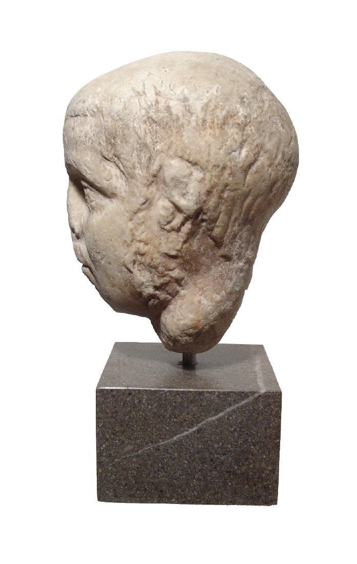 Pair of Roman Imperial portrait heads, Severan Dynasty - 4