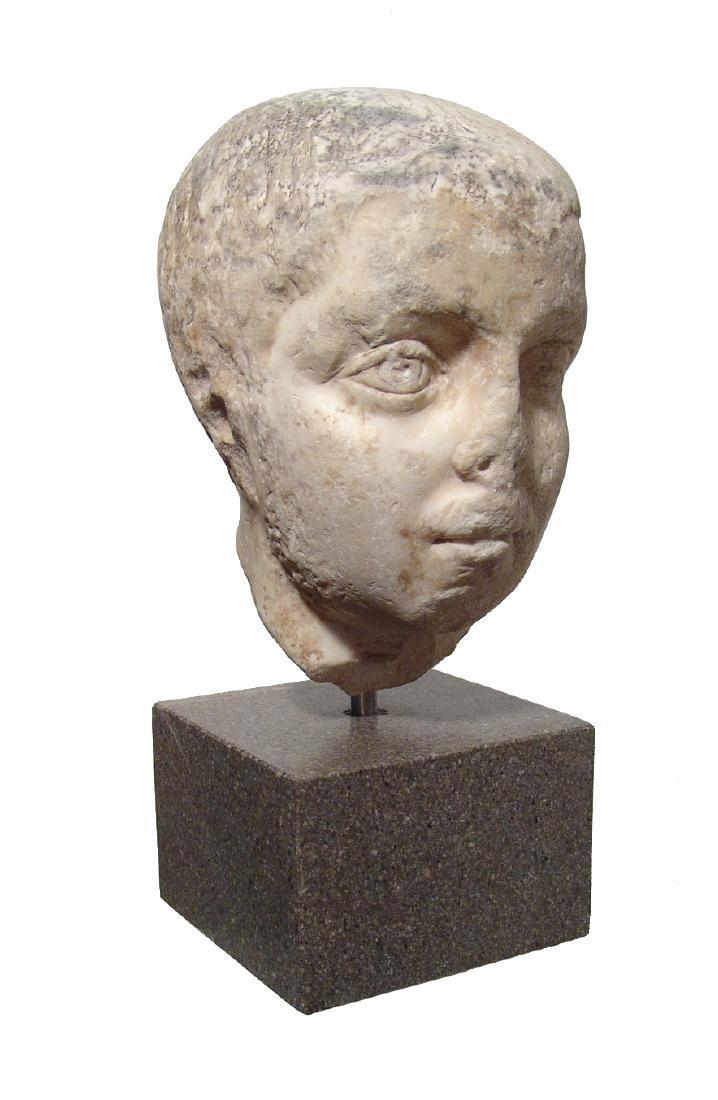 Pair of Roman Imperial portrait heads, Severan Dynasty - 5
