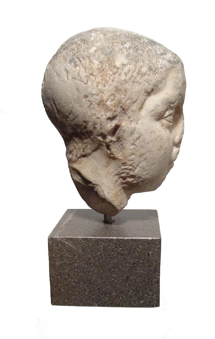 Pair of Roman Imperial portrait heads, Severan Dynasty - 6