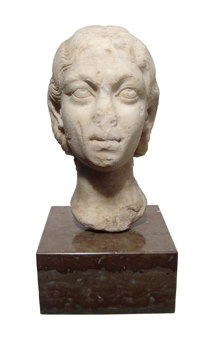 Pair of Roman Imperial portrait heads, Severan Dynasty - 8