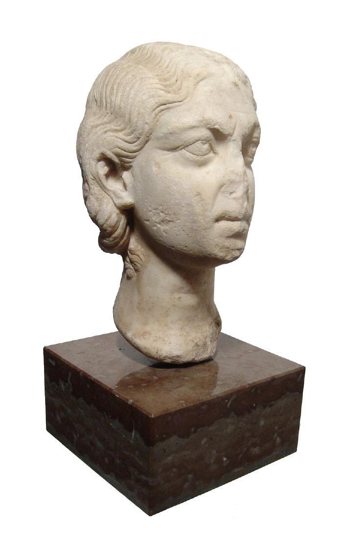 Pair of Roman Imperial portrait heads, Severan Dynasty - 9