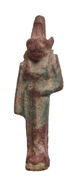 An Egyptian faience amulet of Sekhmet, Late Period