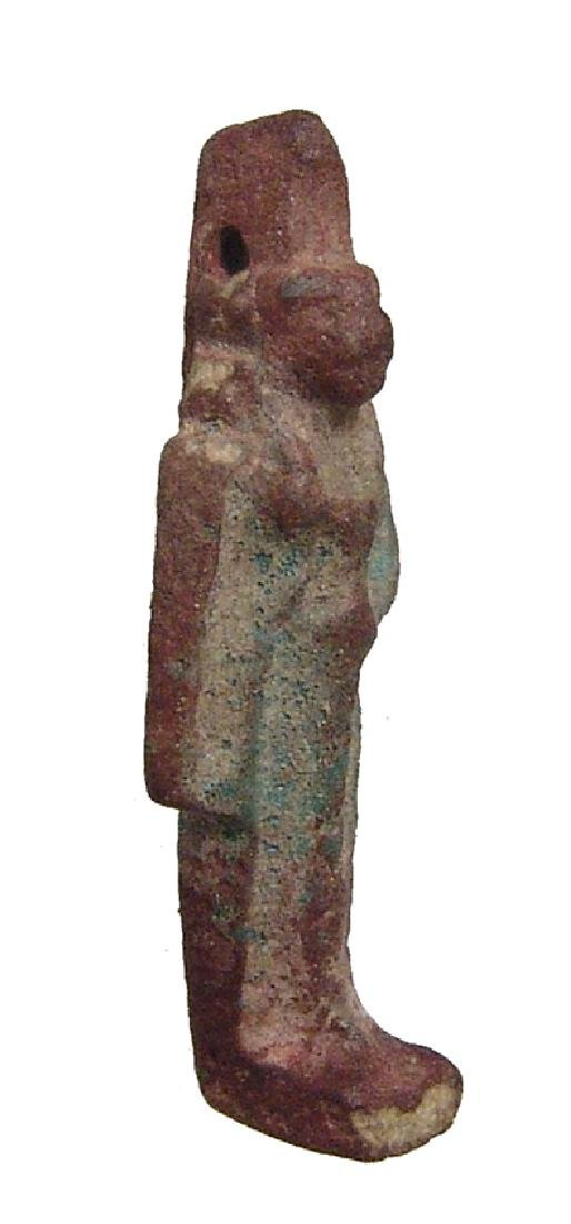An Egyptian faience amulet of Sekhmet, Late Period - 2