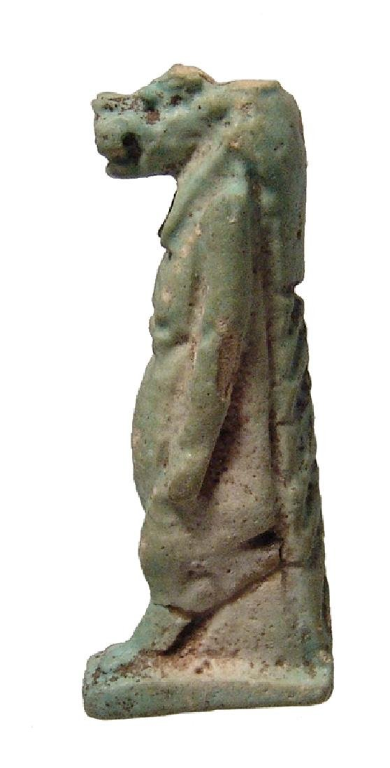 Large Egyptian faience amulet of Taweret, Late Period - 2