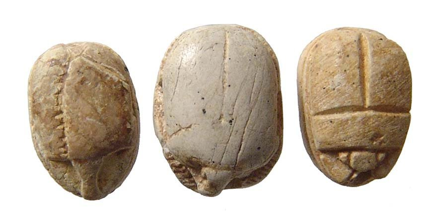A trio of small Egyptian steatite scarabs - 2