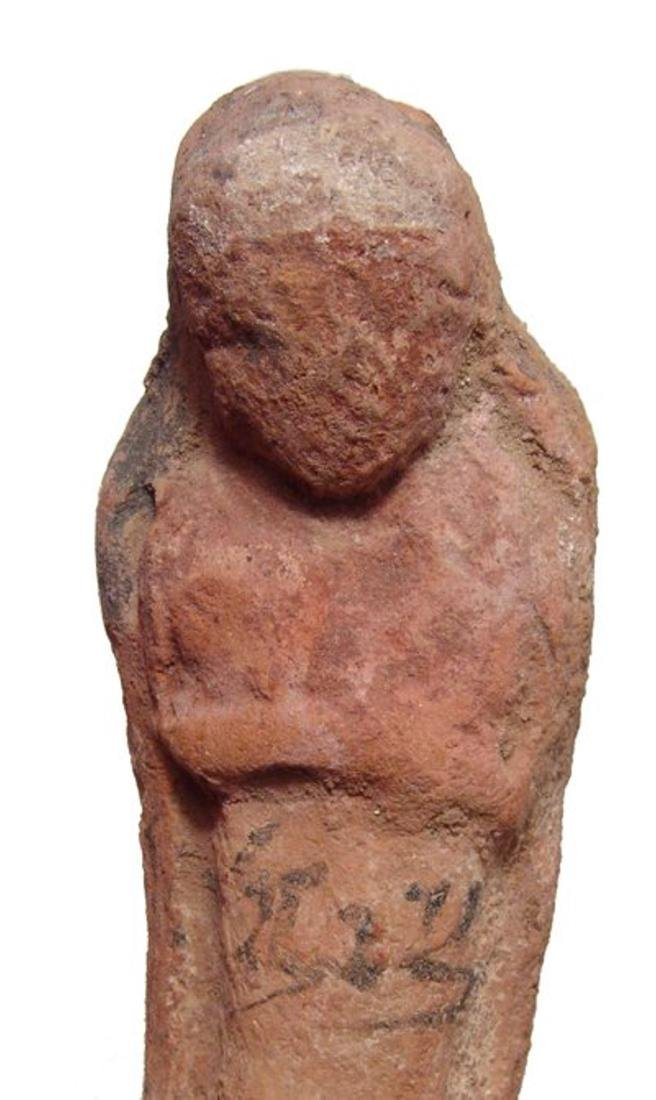 Egyptian terracotta ushabti with Hieratic inscription - 2