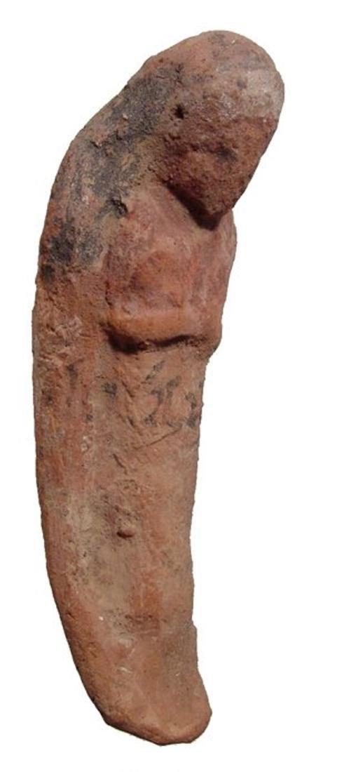Egyptian terracotta ushabti with Hieratic inscription - 3
