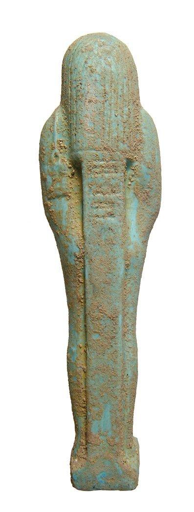 Egyptian pale blue-green faience ushabti, Late Period - 4