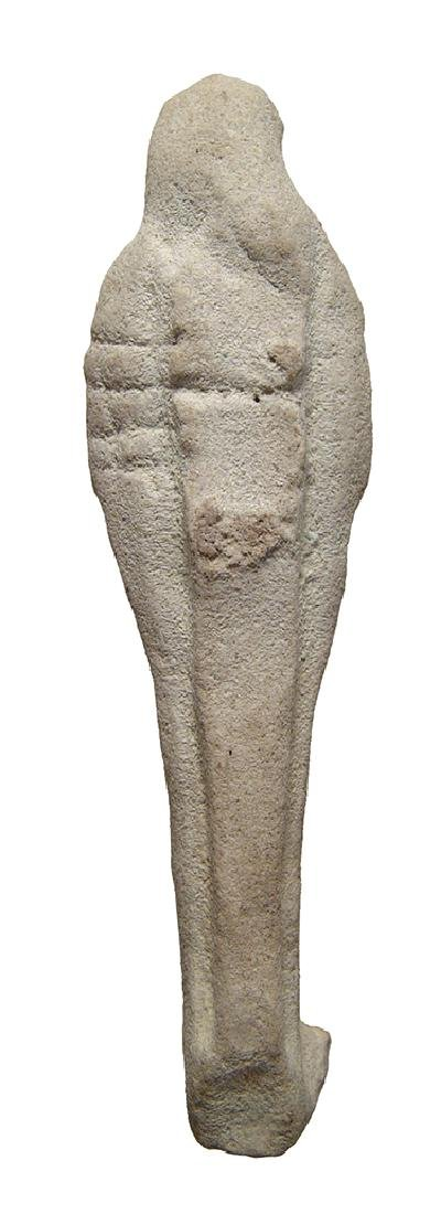 Egyptian white faience ushabti, Late Period - 3