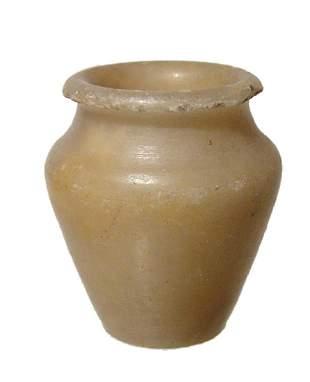 An Egyptian alabaster kohl jar Middle Kingdom