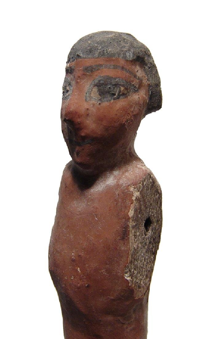 A large Egyptian wooden figure, Middle Kingdom - 4