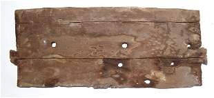 Egyptian wooden panel from a sarcophagus or box
