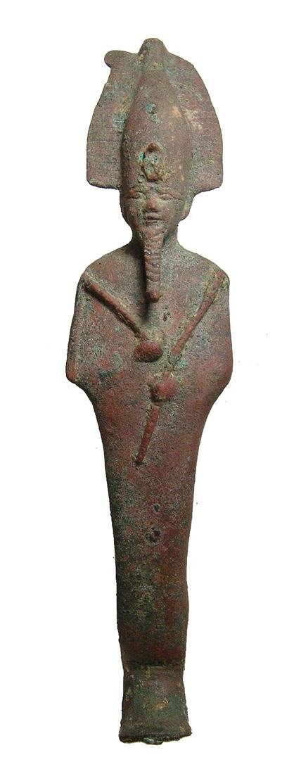Large Egyptian bronze figure of Osiris, Late Period