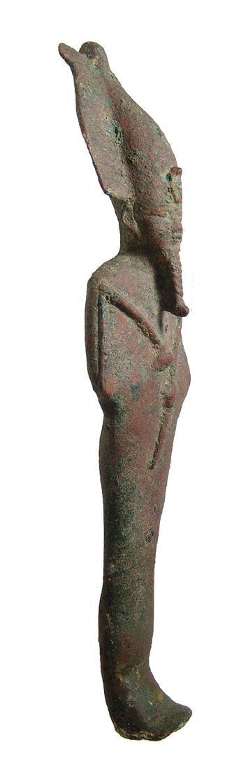 Large Egyptian bronze figure of Osiris, Late Period - 2