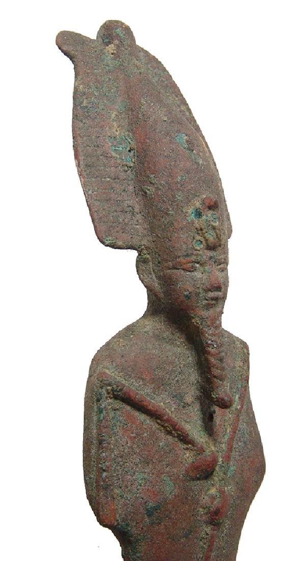 Large Egyptian bronze figure of Osiris, Late Period - 3