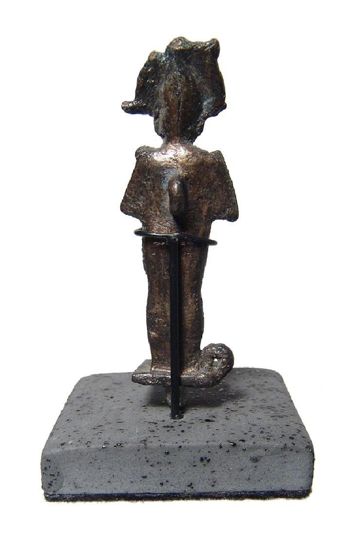 Nice Egyptian bronze amulet of Osiris, Late Period - 4