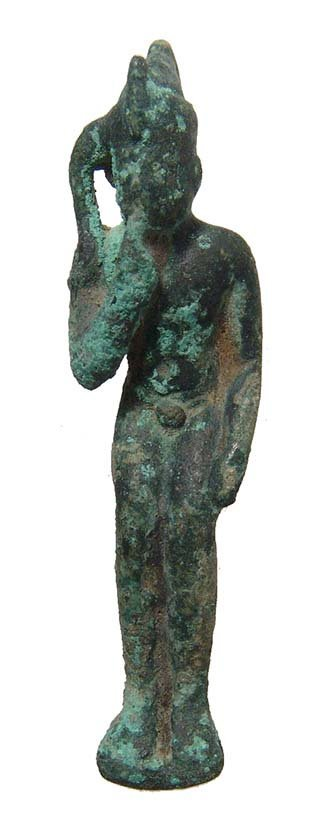 A group of 4 Egyptian bronze figurines, Late Period - 2