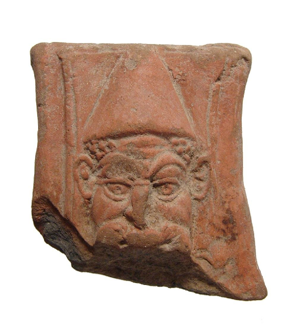 Roman-Egyptian pot-support depicting Papposilenos