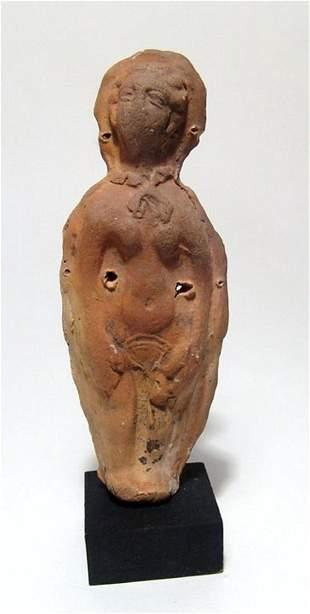 Molded terracotta female votive figure Roman Egypt