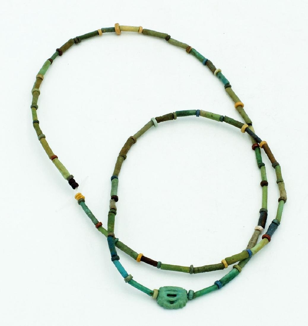 A nice Egyptian faience bead necklace, Late Period