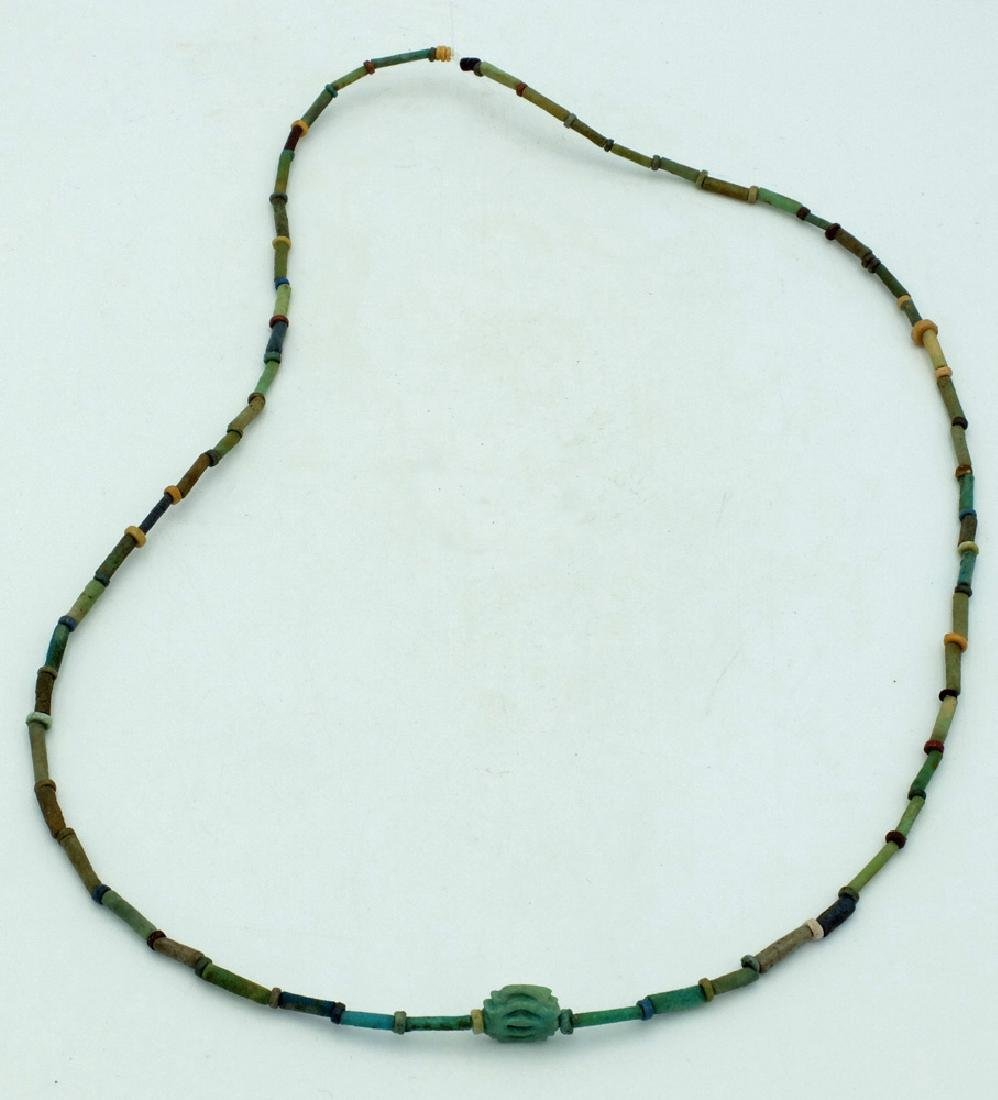 A nice Egyptian faience bead necklace, Late Period - 2