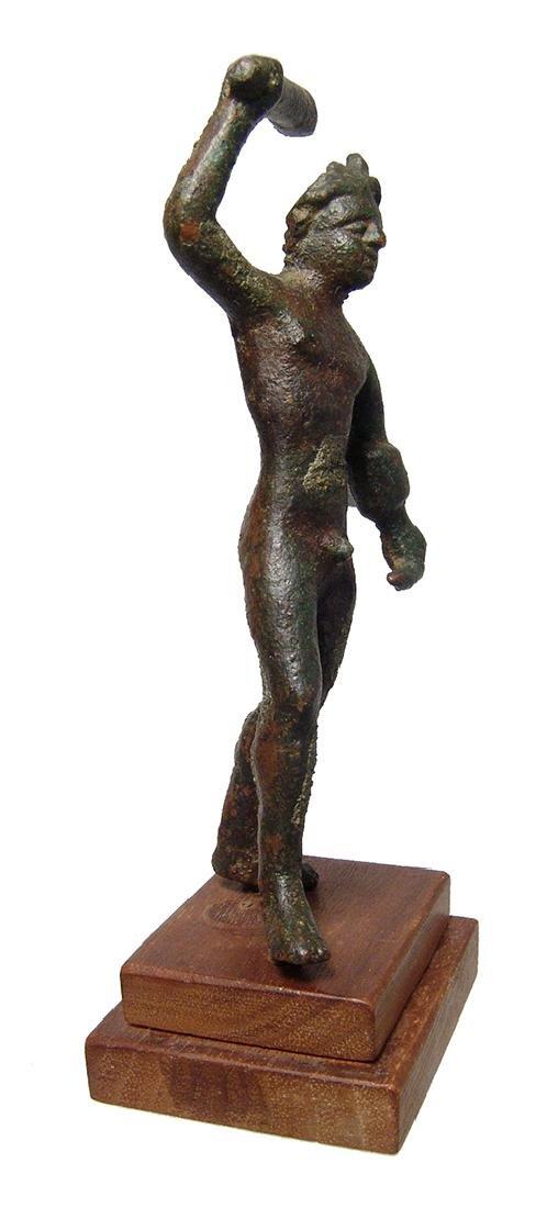 An attractive Etruscan bronze figure of Herakles - 2