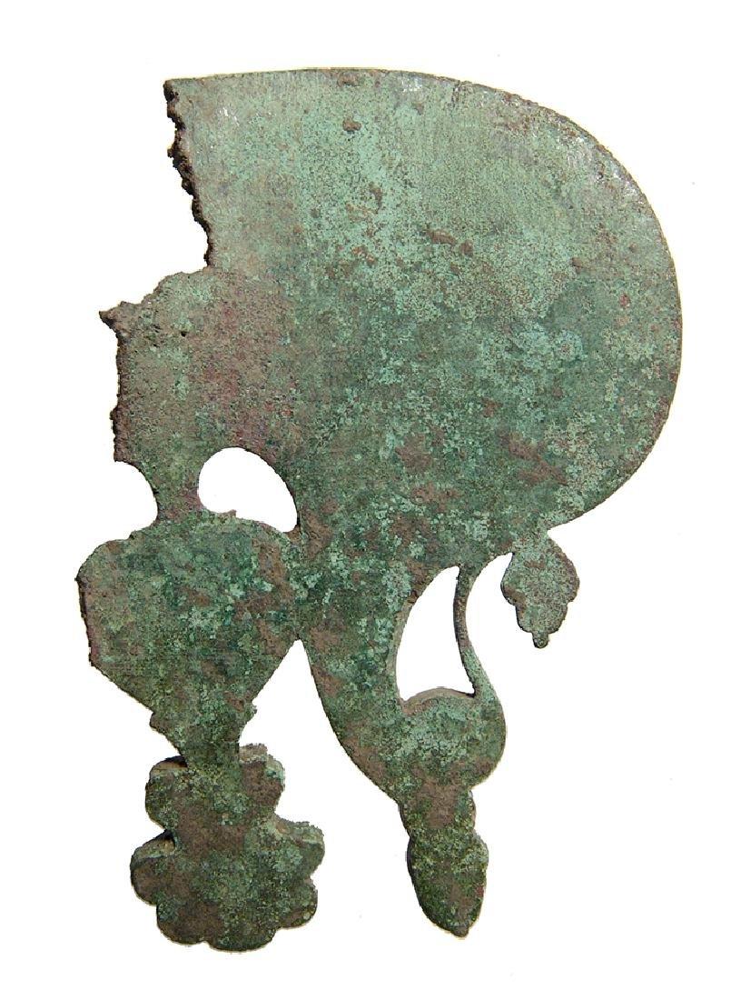 An attractive Roman silver inlaid bronze ornament - 2