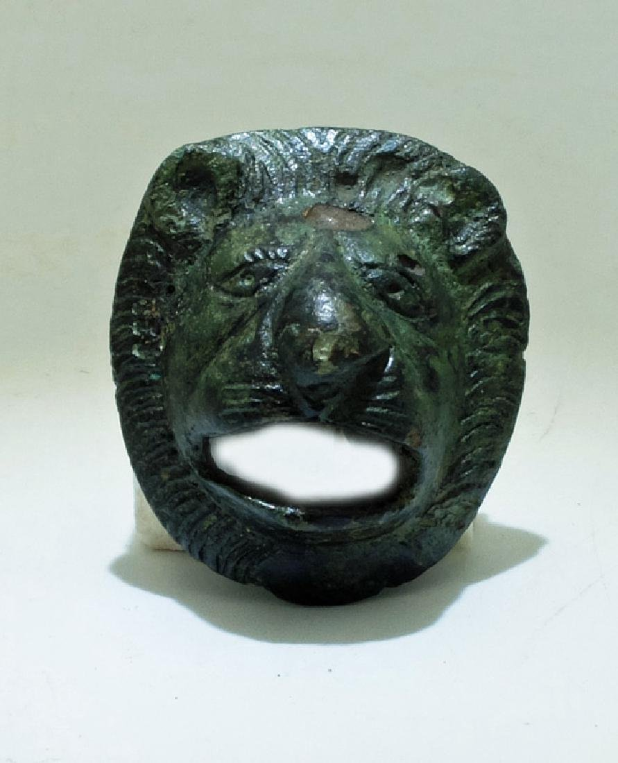 A very nicely detailed Roman bronze lion applique