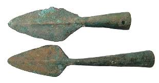 Chinese bronze spear points Late Warring States Qin