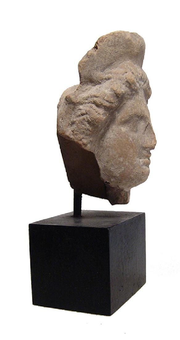 A lovely Greek ceramic head of a woman - 3