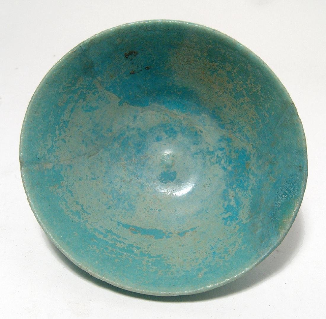 A Persian turquoise glazed bowl - 2