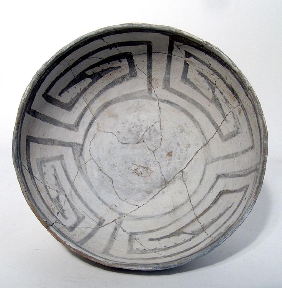 A lovely Mesa Verde black on white bowl
