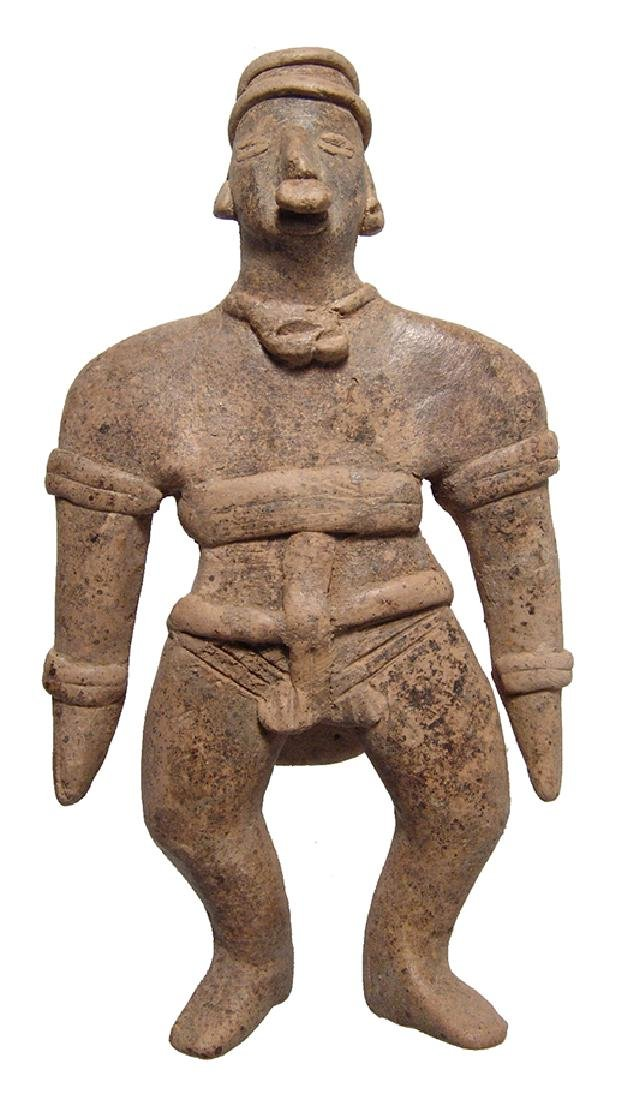 Colima standing figure of a ball player, West Mexico