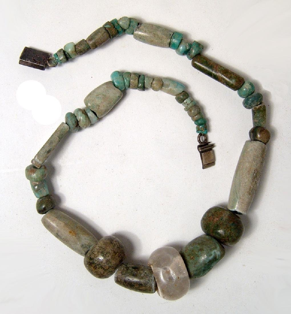 A nice Pre-Columbian jade and greenstone necklace