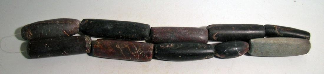 10 exceptionally large Tairona beads from Colombia - 2