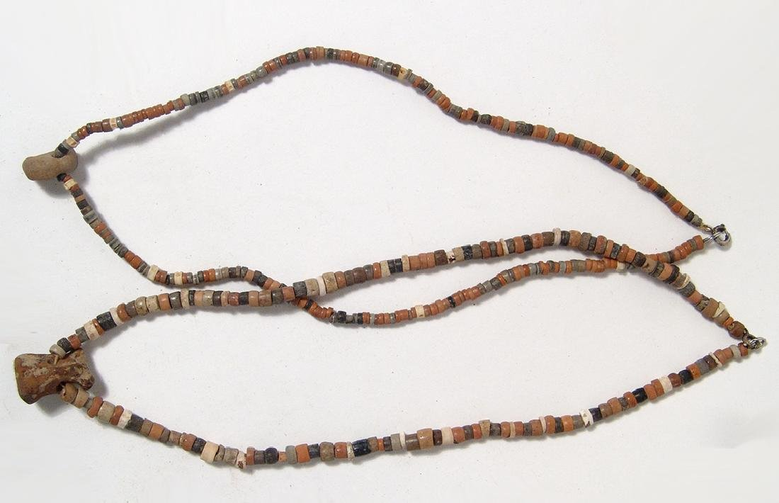 Pre-Columbian beaded necklaces with central amulets