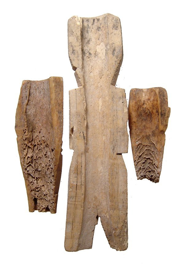 A lot of 3 Coptic bone dolls, Roman/Byzantine Egypt - 2