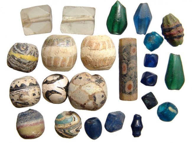 A group of 23 mixed glass beads, Roman - Islamic