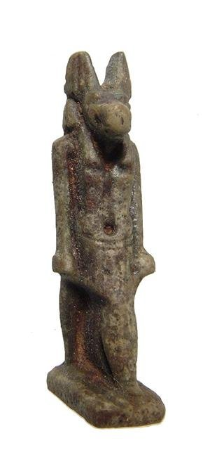 Egyptian faience amulet of Anubis, Late Period - 3