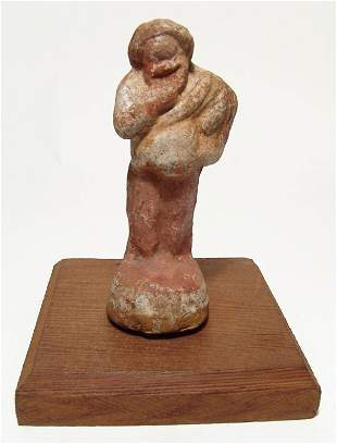 A nice Hellenistic terracotta figure of an actor