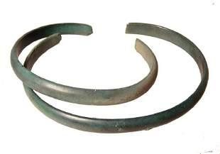 A pair of Celtic bronze bracelets Danube Region