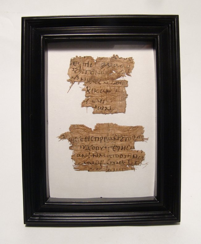 A lovely pair of Coptic papyrus letter fragments